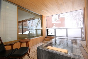 Rooms with open-air hot spring baths